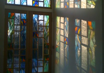 'Leaf Movement', Leaded Glass
