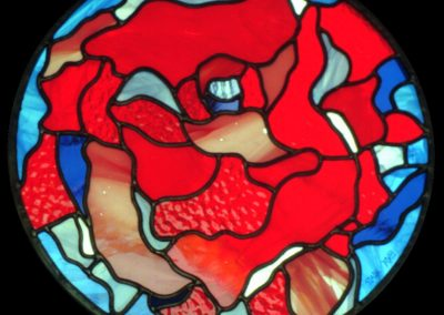 'Poppy', Leaded Glass