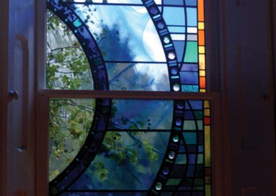 'See the Climbing Rose', Leaded Glass