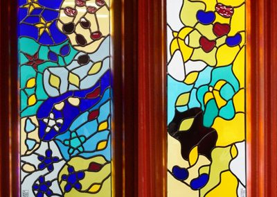 'Night & Day, A Homage to Matisse', Leaded Glass