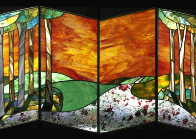 'Out of the Woods', Leaded Glass, .85m x 1.9m