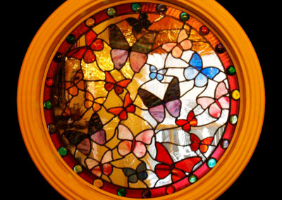 'Butterflies', Leaded Glass