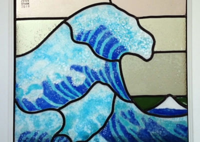 'Wave After Hokusai' Fused & Leaded Glass