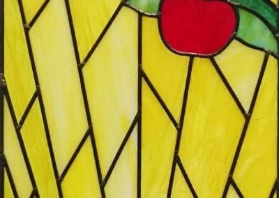 'Apples & Crocuses', Opal Leaded Glass
