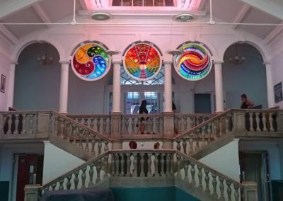 Blackheath High School, Junior (Girls). Entrance Hall, Fused & Leaded Glass